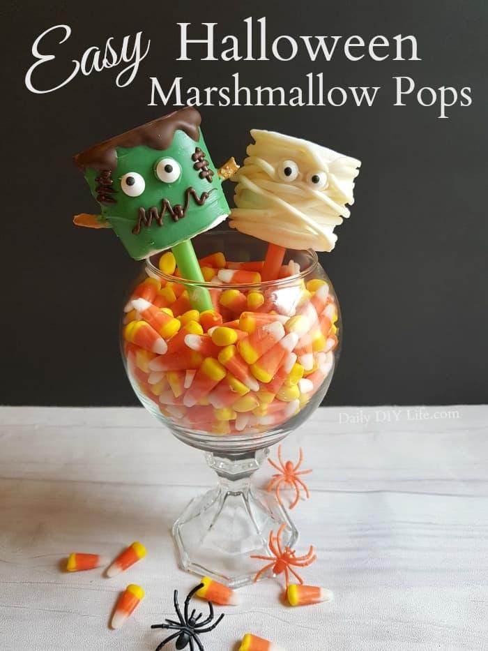 easy halloween marshmallow pops trick or treat ideas