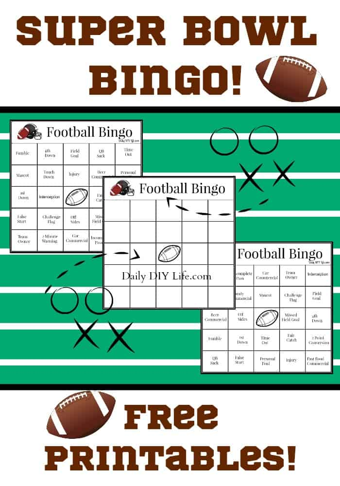 It's just a picture of Superb Super Bowl Printables