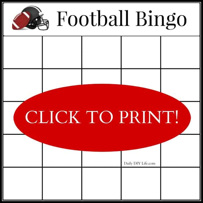 This is a graphic of Lively Free Printable Football Bingo Cards
