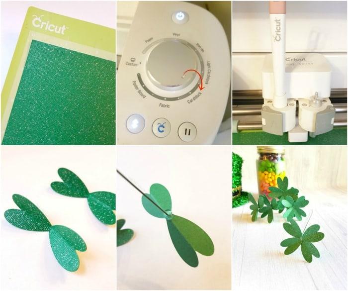 How to create a 3D Paper Four Leaf Clover in Cricut Design Space. #Cricut #CricutMade #CricutHowTo #CricutTutorial