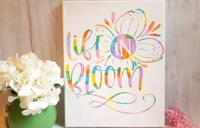 How To Create A Beautiful Hot Mess Canvas U2013 Another Fun Cricut Project!