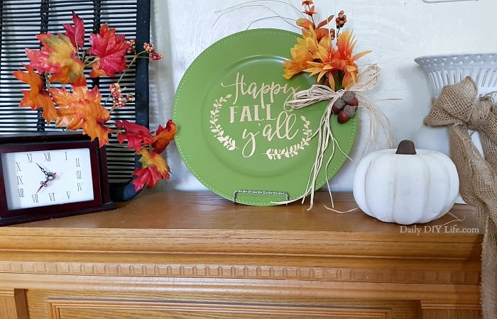 Easy Fall Decor With Cricut And Dollar Tree Plates