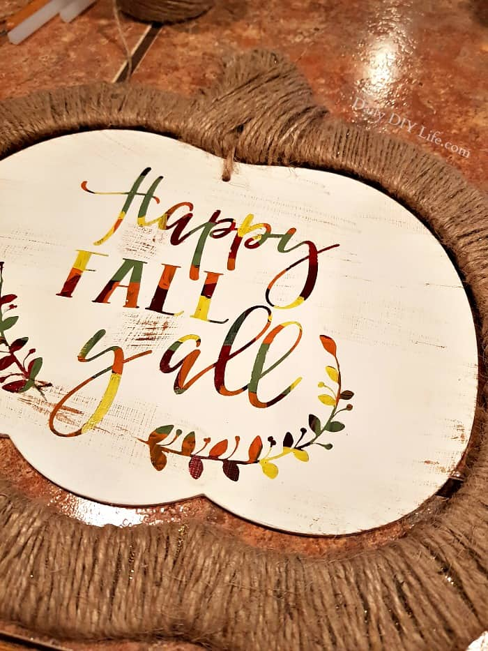 Dollar Store Upcycle Rustic Hot Mess Sign With All The