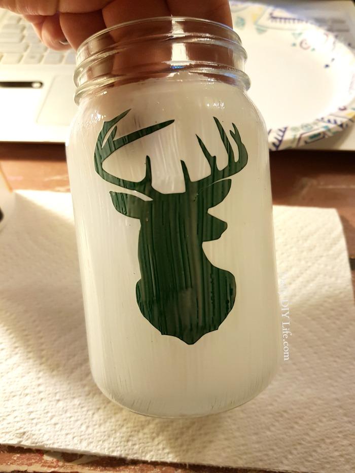 Snow Covered Holiday Mason Jar An Easy Christmas Craft