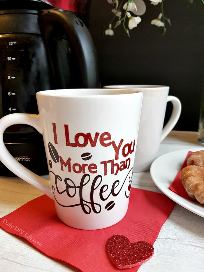 1d62dbfc904 This Valentine s Day Customized Mug is an easy cricut craft that you can  put together in